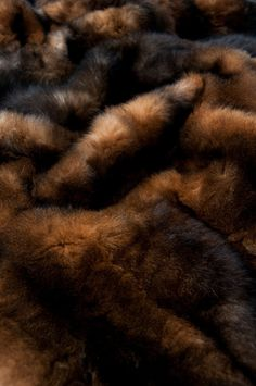 Natural Red Brown Possum Fur Throws | Brown Fur Throws & Blankets