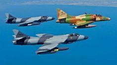 Skyhawk and Hawker Hunters
