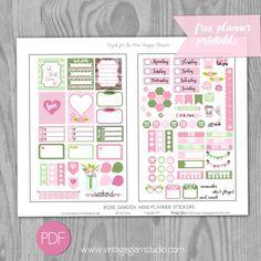 Mini Happy Planner - Rose Garden Planner Stickers - Vintage Glam Studio