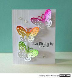 Hero Arts Cardmaking Idea: Flitting By