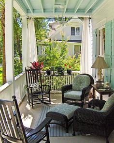 front porch decor ideas - Porches have their background in very early America and are frequently related to a simpler time and lifestyle, Best Rustic Farmhouse Front And Back Porch Designs Ideas Outdoor Curtains, Outdoor Rooms, Outdoor Living, Outdoor Decor, Front Porch Curtains, Porch Privacy, Porch Ceiling, Outdoor Privacy, Long Curtains