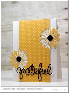 """""""Grateful For You"""" Card  (Site: instructions + product list)"""