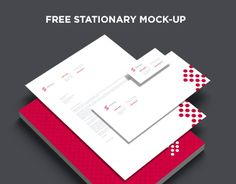 "Here's a FREE 7 .psd mock-up set of a stationary package - business cards, letterhead and envelope.Letterhead is A4 standard, DL Envelope and 3.5x2"" business card."