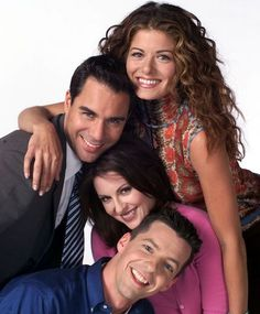 Will Truman (Eric McCormack), Karen Walker (Megan Mullaly), Jack McFarland (Sean Hayes). Dying to get the complete series of this show! Mtv, Movies Showing, Movies And Tv Shows, I Love Series, Debra Messing, John Wilson, Will And Grace, Old Shows, Comedy Tv