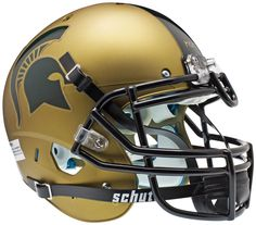 Michigan State Spartans Authentic Schutt XP Full Size Helmet - Gold