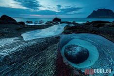 Eye of Uttakleiv - This picture was captured close after sunset at Uttakleiv Beach. A very lovely place on the Lofoten Islands in Norway. Lofoten, Landscape Photos, South America, Norway, The Good Place, Cool Photos, Places To Visit, Around The Worlds, Pictures