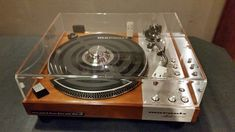 Marantz 6300 turntable with new clear dust cover.