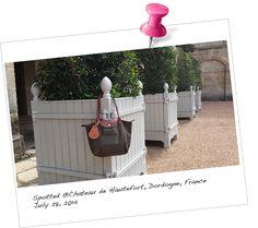 Our BabyMoon KeepsakeTAG spotted at Chateau de Hautefort, Dordogne, France, July 2014