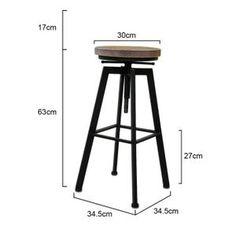 Tabouret de Bar / de Peintre sur Vis Design Luxe Loft Style Industriel Vintage Métal & Bois - Achat / Vente tabouret de bar Noir - Soldes* d'été Cdiscount