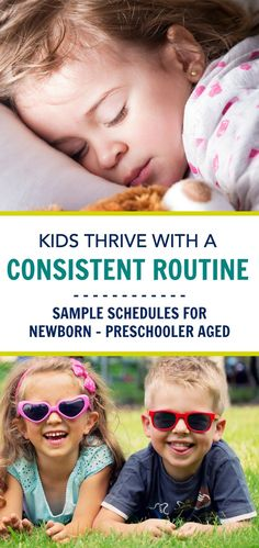 A consistent routine creates better sleep habits, set expectations for your children & helps them to have better behavior. Create a routine by starting with these sample schedules and see the improvements in your children and family shortly after.