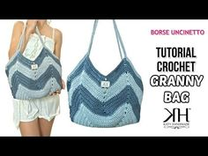 "TUTORIAL BORSA UNCINETTO ""GRANNY BAG"" - Crochet pattern ● Katy Handmade - YouTube"