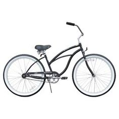 Urban Lady Women's Beach Cruiser Bike in Matte Black