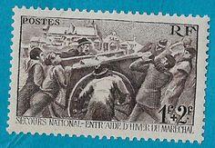+ 1941 France Men Hauling Coal Semi-postal Tax Bob #B112 SP70 1Fr+2Fr MNH