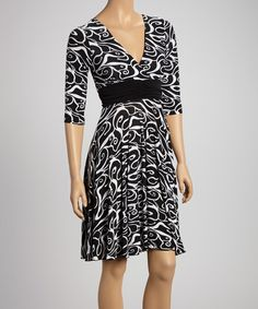 Zulily black & white dress