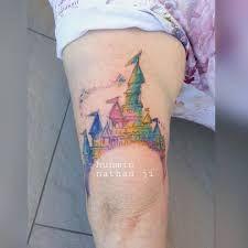 Αποτέλεσμα εικόνας για watercolor cinderella castle tattoo