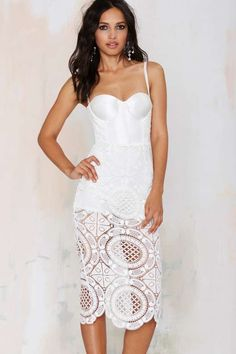 Misha Collection Flora Crochet Dress
