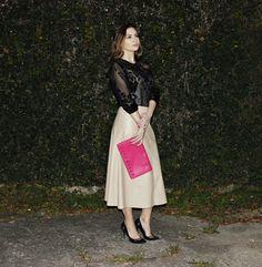 Lady like look, midi skirt amazing! Look com saia midi!