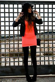 Touch of fluor  , Bershka in Dresses