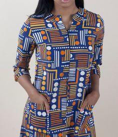 Marimekko Cotton Zip Front Shift Dress 1970s by waywardcollection