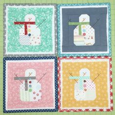 Cute Snowman Block for Christmas Quilt