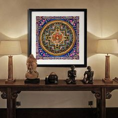 tibetan art buddha spiritual canvas painting unframed size in cm 30 x