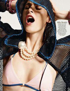 Urban Retro Editorials - The S Moda June 2014 Photoshoot Stars an Edgy Toni Garrn (GALLERY)