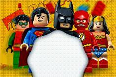 - Lego Batman - Ideas of Lego Batman - Kit Completo Digital Batman Lego Super Heroes! Lego Batman Party, Fiesta Batman Lego, Lego Batman Birthday, Superhero Birthday Party, 6th Birthday Parties, Batman Superhero, Lego Batman Invitations, Lego Birthday Invitations, Free Printable Party Invitations