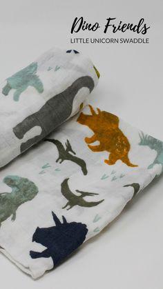 Dino Friends - Little Unicorn Swaddle