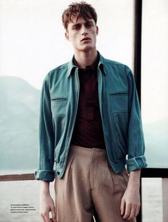 Bastiaan Van Gaalen shot by Carlotta Manaigo and styled by Davide Brambilla for the Spring/Summer 2012 issue of L'Officiel Hommes Italia