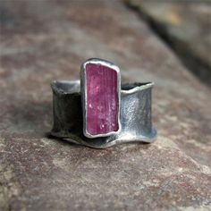 Sofia Gladysz - ring with pink tourmaline / 925 silver