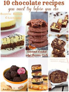 10 chocolate recipes you must try before you die from Roxanahomebaking.com
