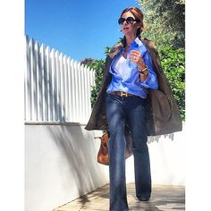 not in the true sense 😉. Good day my friends, its getting hot, so don't forget to hydrate 💦💦💦 Ramona Filip, Casual Outfits, Fashion Outfits, Womens Fashion, Pantalon Large, My Friend, Friends, Bell Bottom Jeans, Preppy