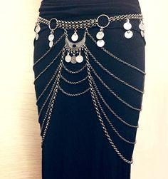 The Lyra Belt Art Deco Kuchi Chain Belt / Body & by BlueSunTribe