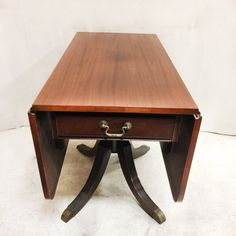 Duncan Phyfe Double Drop Leaf Table with Drawers $165