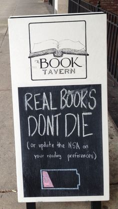 The Book Tavern, Augusta, GA | 15 Hilarious Bookstore Chalkboards