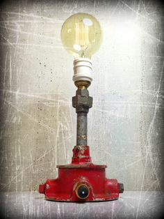 A Bright Mind © - Found Object Light Sculpture by Assemblage Artist, Jay Lana