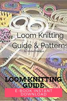 """In this book, """"Loom Knitting Guide & Patterns"""", you will learn basics to beyond, find valuable reference information, math explained, and simply find how to get the most out of your knitting skills. Kristin Mangus has done it again!!  -  loom knitting -- palliative care donations -- affiliate ad --  zen mamma -- sheschasingzen #loomknittingpatterns"""