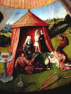 Lust.The Seven Deadly Sins (detail) c. 1480 by Hieronymous Bosch