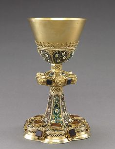 Chalice and Paten  Chalice and Paten, c. 1450-1480  Hungary, Budapest?, 15th century gilt silver and filigree enamel, Overall - h:24.60 cm (h:9 5/8 inches)