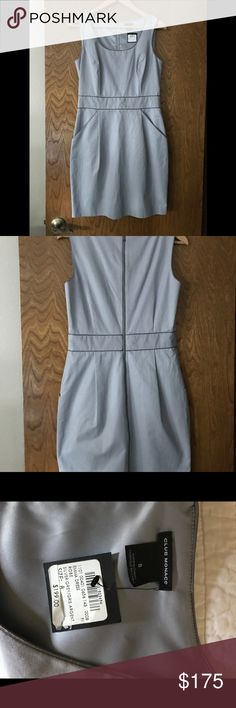 Club Monaco Emma Gray Dress New With Tags Club Monaco Emma Gray Dress New With Tags. This dress has a zipper from top to bottom in the back, hidden front pockets. Club Monaco Dresses