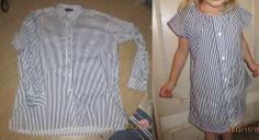 Miehen paidasta tytölle mekko