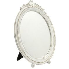 Laura Ashley Cream Footed Oval Dressing Table Mirror