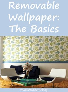 Renting doesn't mean you have to live with boring white walls! Learn the basics of temporary, removable wallpaper. [Rent.com Blog] #decorating #renting #apartment