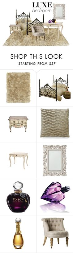 """Luxe bedroom"" by cnle ❤ liked on Polyvore featuring interior, interiors, interior design, home, home decor, interior decorating, BD Fine, Hillsdale Furniture, Dransfield & Ross and Zara Home"