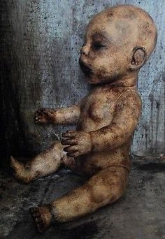 OOAK-Gothic-Corpse-Morgue-Zombie-Horror-Doll Scary Dolls, Gothic Horror, Old Dolls, Babies, Artist, Ebay, Antique Dolls, Babys, Artists