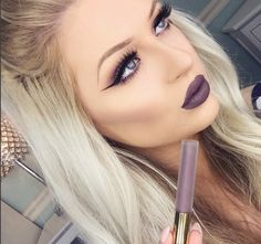 """GRAVITY grabs your attention and won't let go. It's one of our fave liquid lipsticks. @babsbeauty_ is gorgeous beyond words. Use code """"HOLIDAY"""" to save on www.gerardcosmetics.com #GCLOVE"""