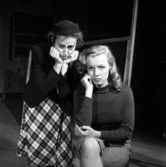 Marilyn Monroe, 22, takes lessons with acting coach, Natasha Lytess, Hollywood, 1949.