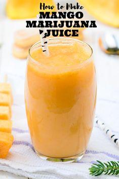 How to Make Mango Marijuana Juice [Edibles] Summer is around the corner guys! Bring the ganja juices out! Weed Recipes, Marijuana Recipes, Juice Recipes, Gf Recipes, Detox Recipes, Drink Recipes, Salad Recipes, Fruit Smoothies, Smoothie Recipes
