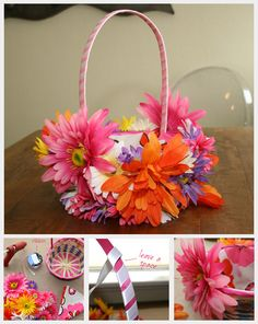 The Easter basket is a beautiful and fresh holiday decoration. With the help of our Easter basket craft ideas you can make cute ones in no time and then Diy Arts And Crafts, Craft Stick Crafts, Diy Crafts, Craft Ideas, Easter Crafts For Kids, Diy For Kids, Diy Osterschmuck, Diy Ostern, Diy Flowers