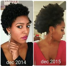 Learn how to grow your hair thicker & longer with DIY tips for treatment & remedies. Pelo Natural, Natural Hair Tips, Natural Hair Growth, Natural Hair Journey, Natural Hair Styles, Long Hair Styles, Going Natural, Natural Beauty, Protective Hairstyles For Natural Hair
